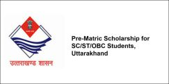 Pre-Matric Scholarship for SC/ST/OBC Students, Uttarakhand 2018-19, Class 6