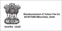 Reimbursement of Tuition Fee for  SC/ST/OBC/Minorities, Delhi 2018, Class 7