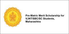 Pre-Matric Merit Scholarship for VJNT/SBC/SC Students,  Maharashtra 2017-18, Class 8