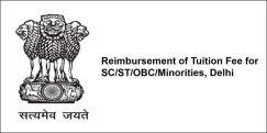 Reimbursement of Tuition Fee for  SC/ST/OBC/Minorities, Delhi 2018, Class 8