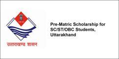 Pre-Matric Scholarship for SC/ST/OBC Students, Uttarakhand 2018-19, Class 8