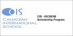 CIS - IGCSE/IB Scholarship Program 2018, Class 9