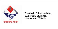 Pre-Matric Scholarship for SC/ST/OBC Students, Uttarakhand 2018-19, Class 9