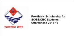 Pre-Matric Scholarship for SC/ST/OBC Students, Uttarakhand 2018-19, Class 9