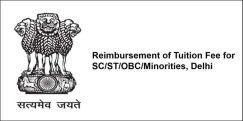 Reimbursement of Tuition Fee for  SC/ST/OBC/Minorities, Delhi 2018, Class 10