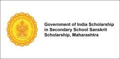 Government of India Scholarship in Secondary School  Sanskrit Scholarship, Maharashtra 2017-18, Class 10