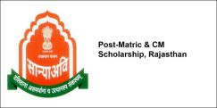 Post-Matric & CM Scholarship  2017-18, Rajasthan, Class 12
