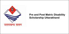 Pre and Post Matric Disability Scholarship  Uttarakhand 2018, Class 12