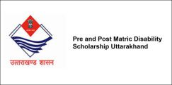 Pre and Post Matric Disability Scholarship Uttarakhand 2018, Class 3