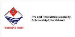 Pre and Post Matric Disability Scholarship Uttarakhand 2018, Class 4